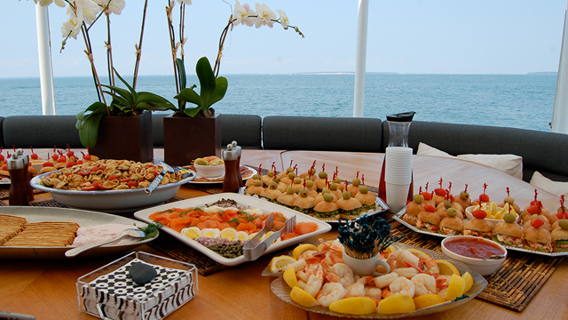 Catering, Food, Chef, Yacht, Cabo Catamaran, Catamaran Cabo San Lucas, Los Cabos Catamaran, Sailing in a Trimaran rentals, hire, Mexico,